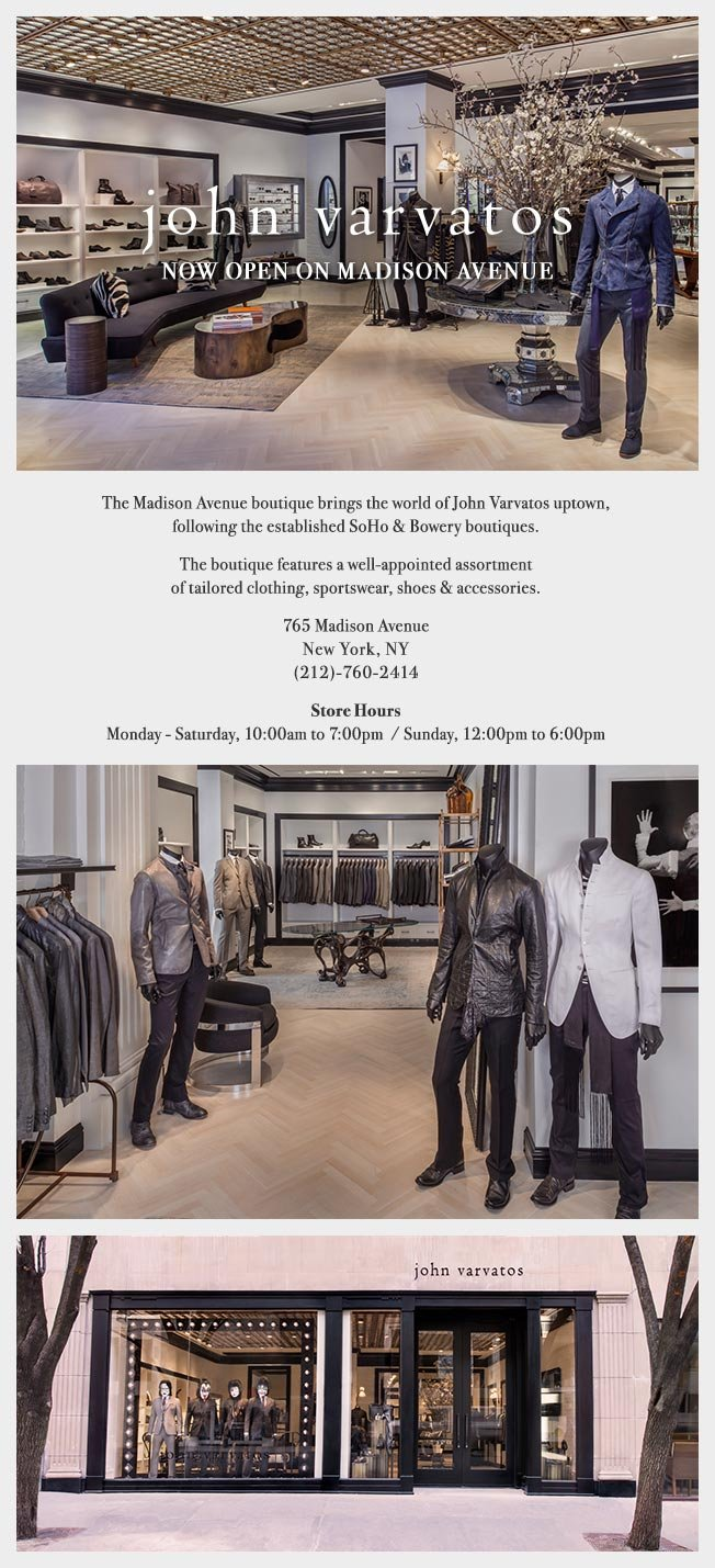 Now Open At 765 Madison Avenue, New York