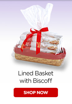 Lined Basket with Biscoff