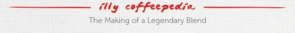 illy coffeepedia  The Making of a Legendary Blend