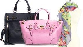 Segolene En Cuir Handbags & Goddess Goddette Scarves