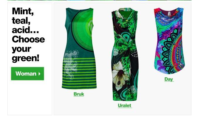 Mint, teal, acid... Choose your green!
