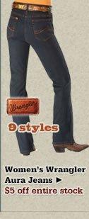 Womens Wrangler Aura Jeans