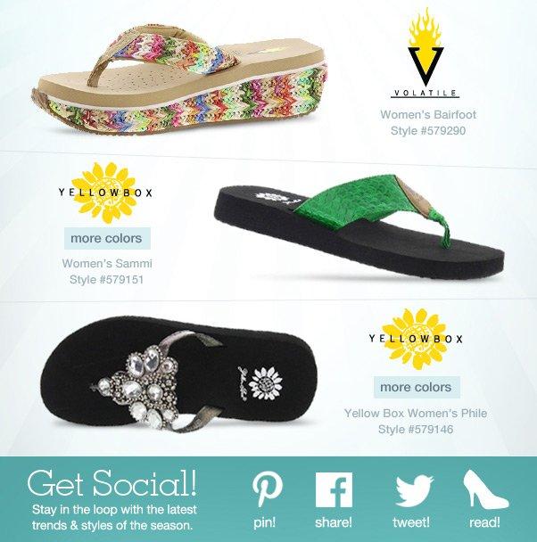 Striking Sandals by Yellow Box & Volatile!