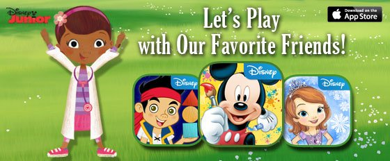 DisneyJunior Apps, Let's Play with Our Favorite Friends!