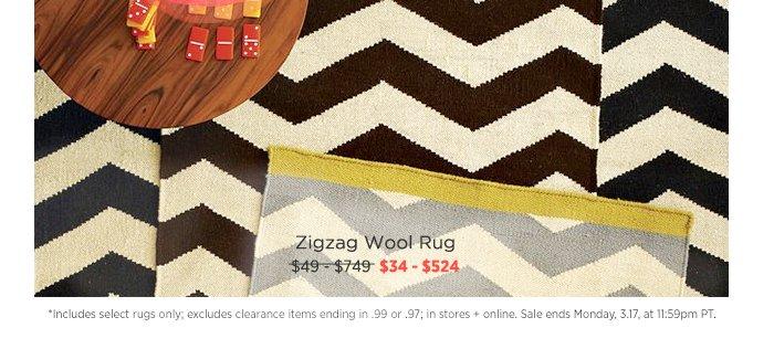 Zigzag Wool Rug