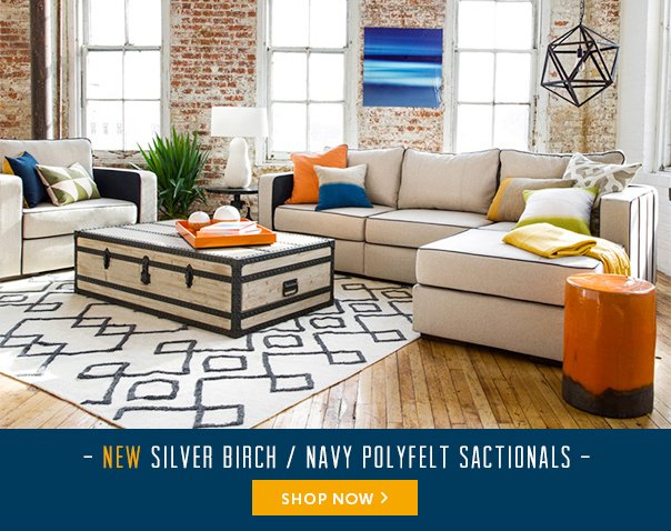 New Silver Birch / Navy Polyfelt Sactionals - Shop Now!