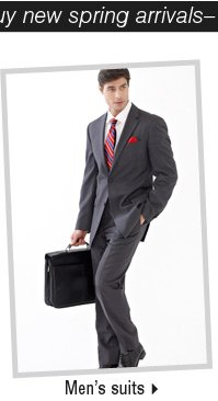 It's the perfect time to buy new spring arrivals-Shop Men's Suits