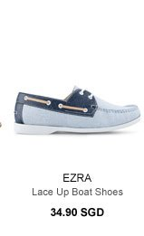 Lace-up Boat Shoes 34.90 SGD
