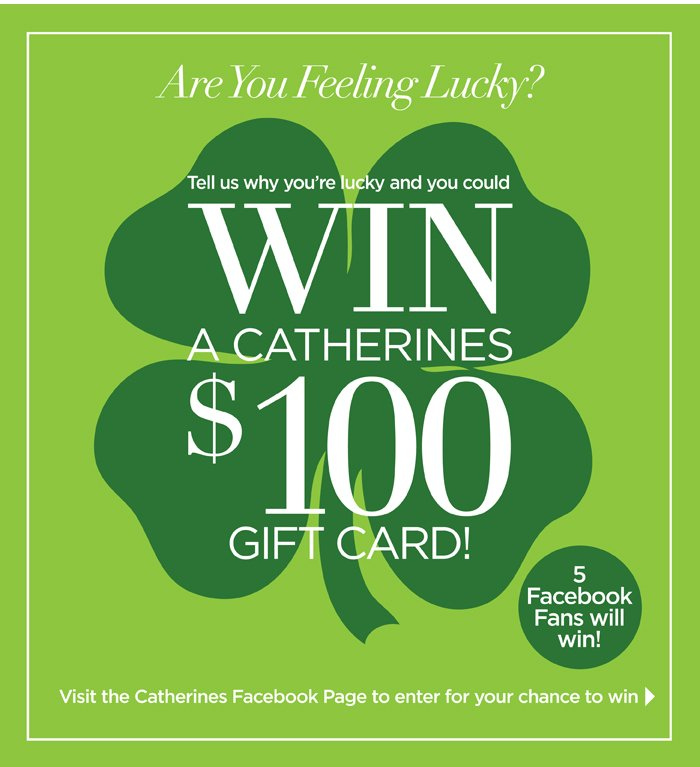 Win a $100 Catherines gift card