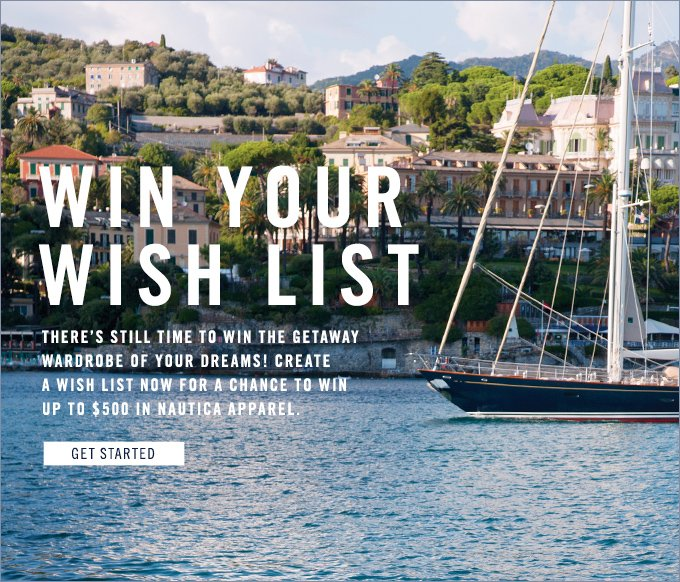 Win Your Wish List. Get started