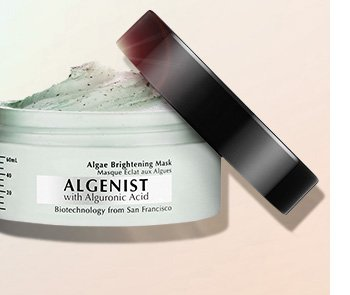 LIT-FROM-WITHIN SKIN New. Indulge in a luxurious, professional-grade mask that combines micro and macro algae for brighter skin. Algenist Algae Brightening Mask, $59 SHOP NOW