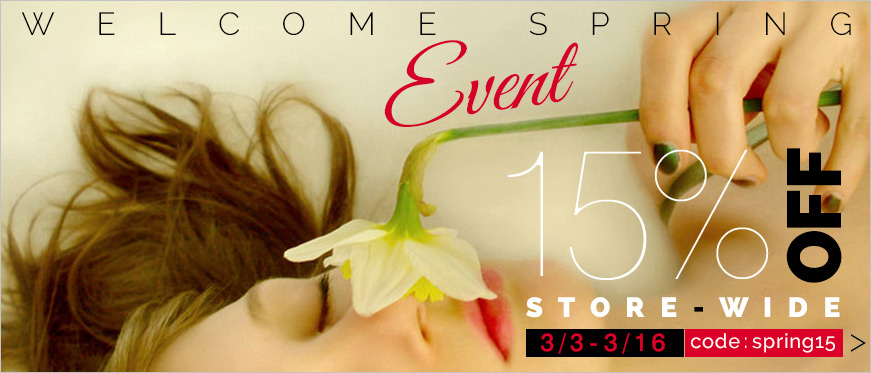 15% Off Store-Wide Welcome Spring Event