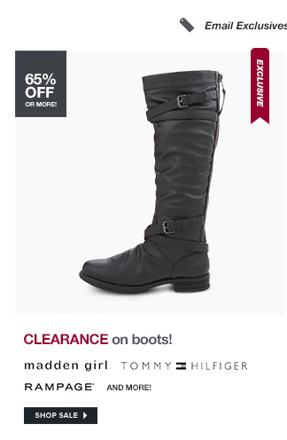 CLEARANCE on boots!