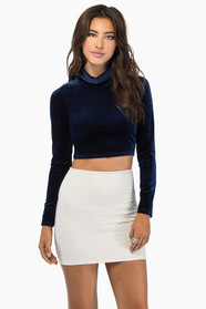Gloria Velvet Cropped Top $26
