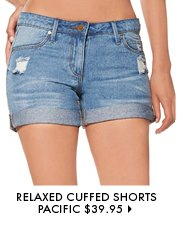 Relaxed Cuffed Shorts Pacific - $39.95