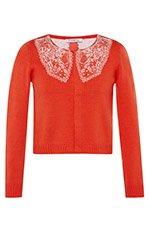 Orange Rea Knit Sweater