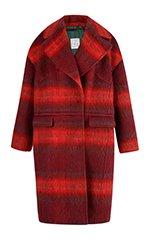 Olivia Brushed Plaid Overcoat