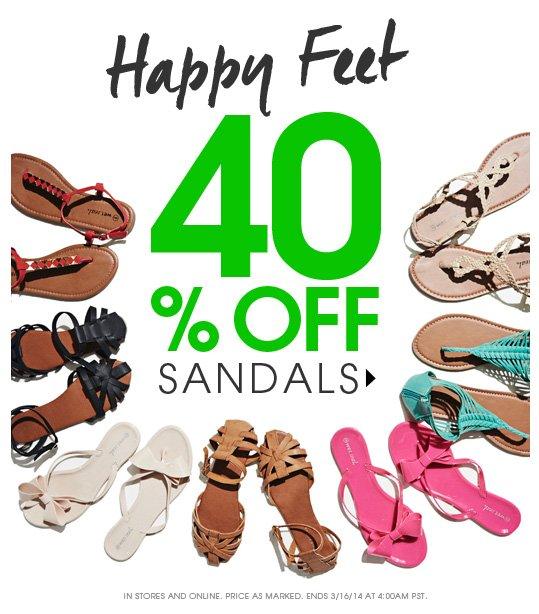 40% OFF Sandals