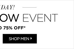 Men's Apparel Up to 75% Off*