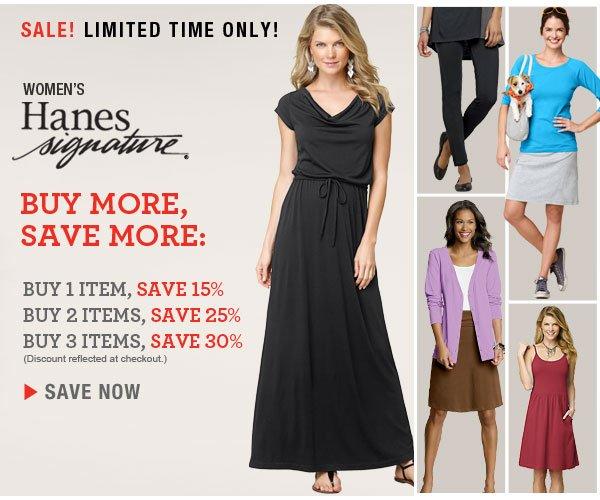 Shop Buy More, Save More Hanes Signature Apparel Sale.