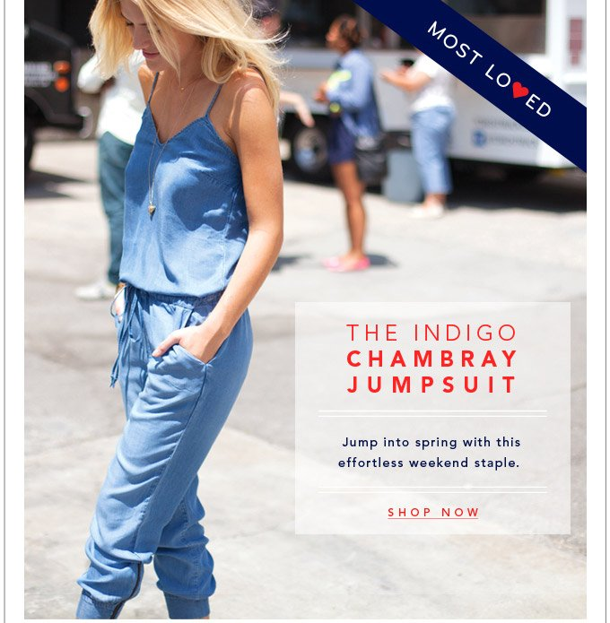 The Indigo Chambray Jumpsuit