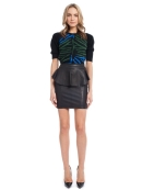 Gigi Leather Peplum Skirt