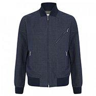 YMC - Cotton and linen blend bomber jacket