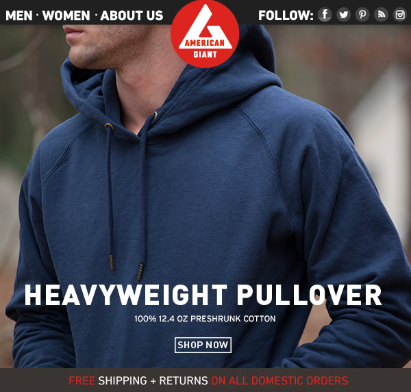 Men's Heavyweight Pullover: Available Now