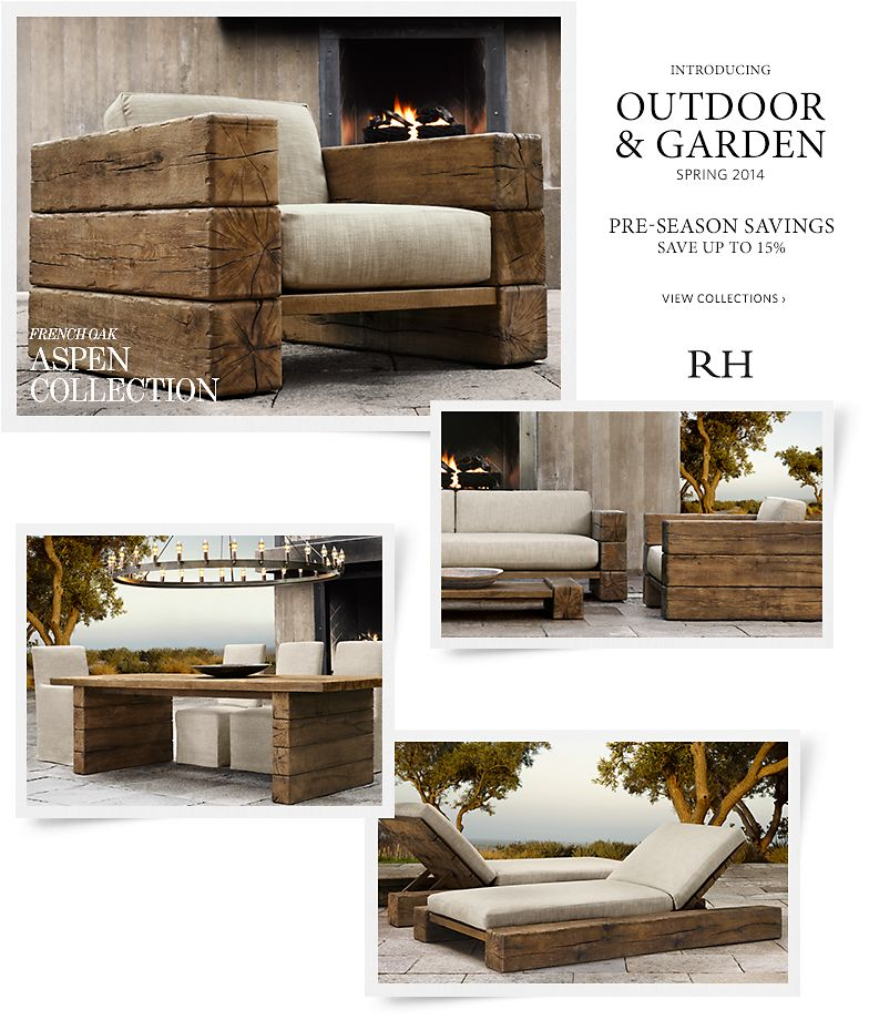Introducing Outdoor and Garden Spring 2014 - Save up to 15% -  Pre-season Savings
