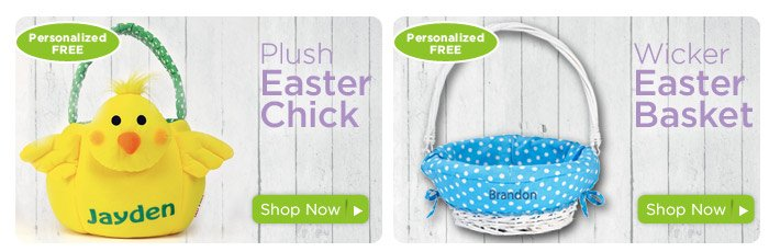 Plush Easter Chick Basket & Wicker Easter Basket