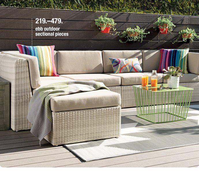 ebb outdoor sectional pieces