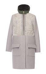 Grey Combo Fur Coat
