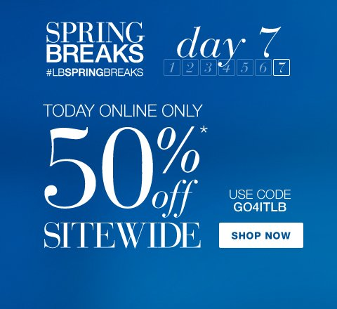 Today Online Only! 50% Off