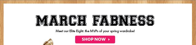 March Fabness - Shop Now