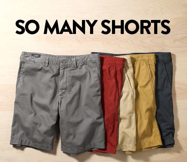 SO MANY SHORTS