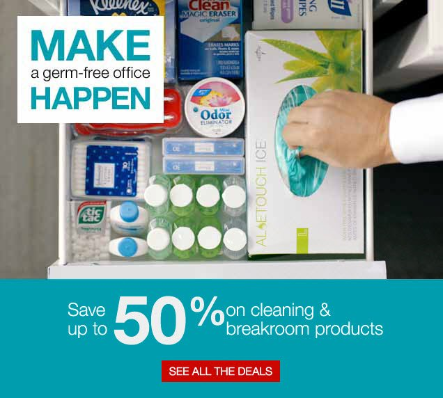 Make a germ-free office happen. Save up to 50% on cleaning & break room products. See all the deals.