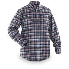 Men's Carhartt® Trumbull Long-sleeved Plaid Shirt