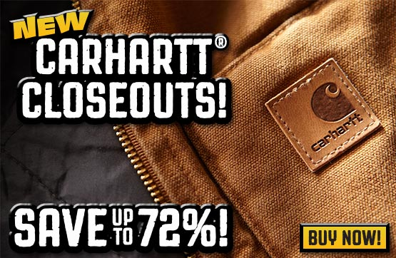 New Carhartt® Closeouts! Save up to 72%!