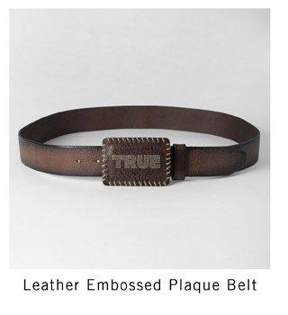Leather embossed belt