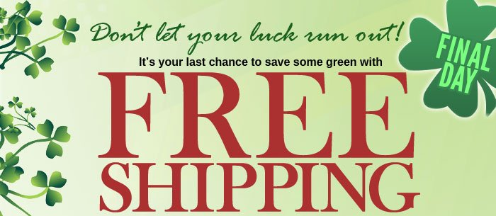 Free Shipping on your order of $25 or more