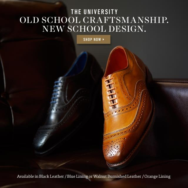 Old School Craftsmanship. New School Design. Shop Now >