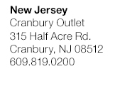 New Jersey - Cranbury Outlet