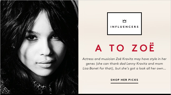 Steal the style of actress and fashion insider Zoë Kravitz: Shop her picks now!