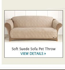 Soft Suede Pet Throw