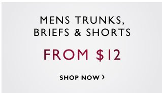 Mens Trunks, Briefs & Shorts - From $12