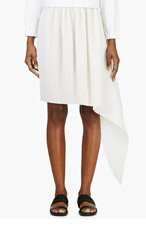 J.W.ANDERSON Ivory Pleated Wool Fishtail Skirt for women