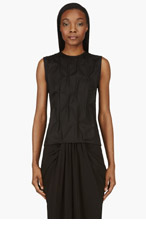 J.W.ANDERSON Black Sleeveless Pick Stitched Blouse for women