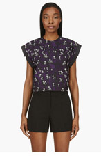 KENZO Black Embroidered Palm Tree Blouse for women