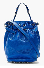 ALEXANDER WANG Royal Blue Grained Leather Diego Bag for women