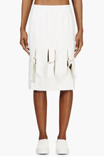J.W.ANDERSON Beige Knotted Midi Skirt for women